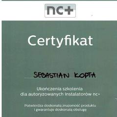 certyfikat nc+